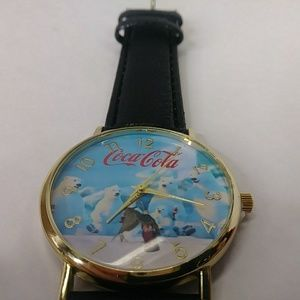 Coca Cola Polar Bear Watch Black Strap Polar Bears